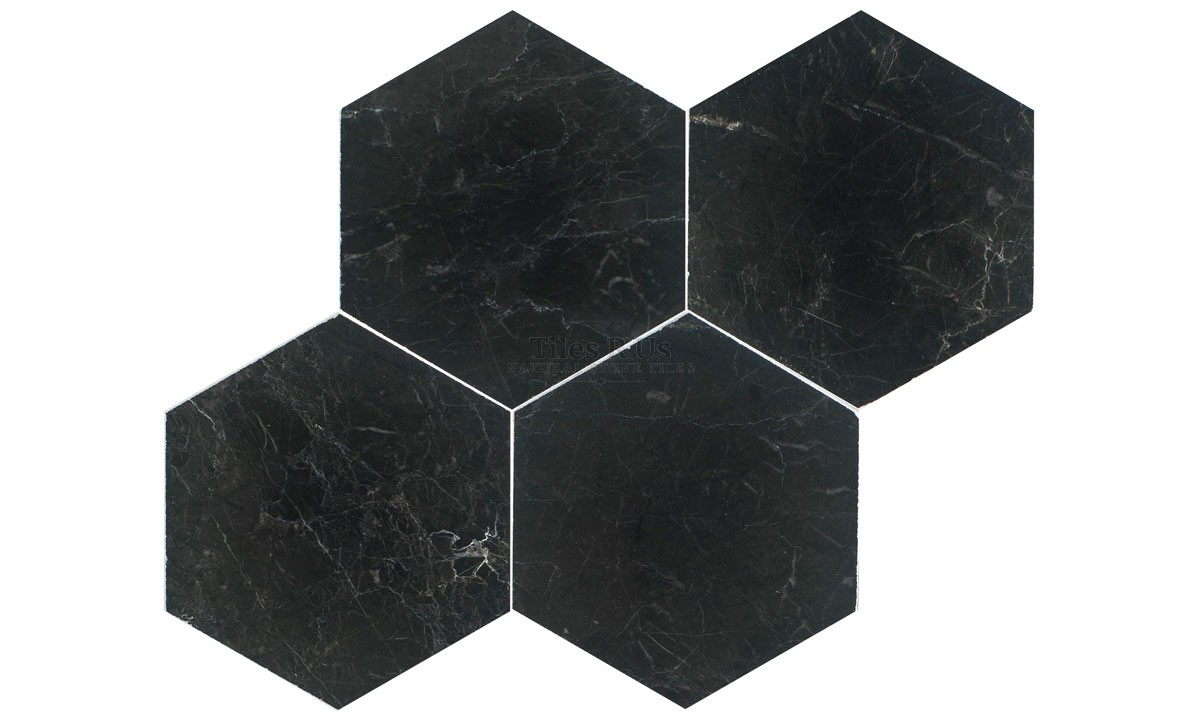 Marble Polished - St Laurent Hexagon 100mm (One Side) x 10mm