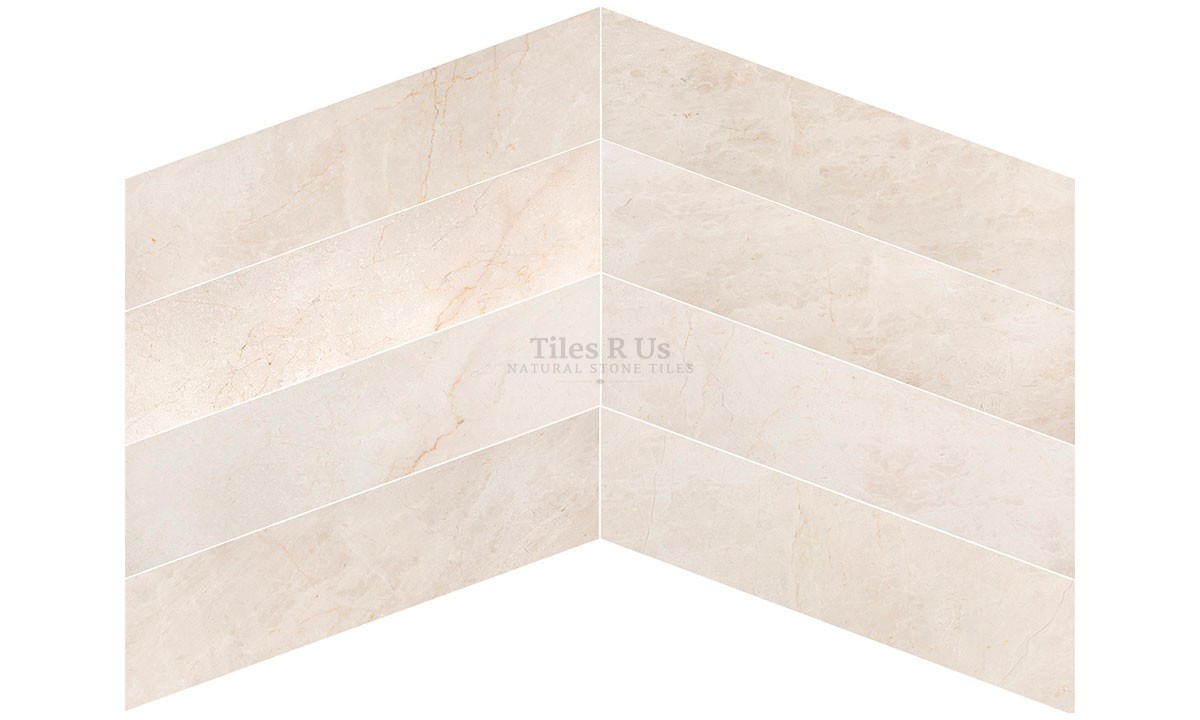 Marble Polished - Crema Marfil Chevron
