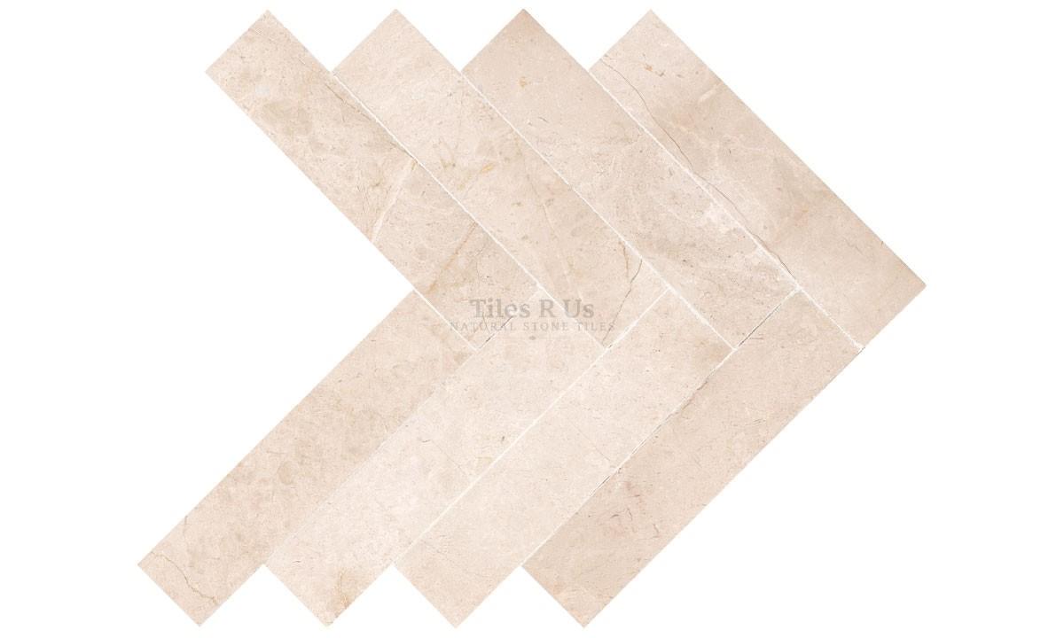 Marble Polished - Crema Marfil Select Herringbone 150x610x13mm