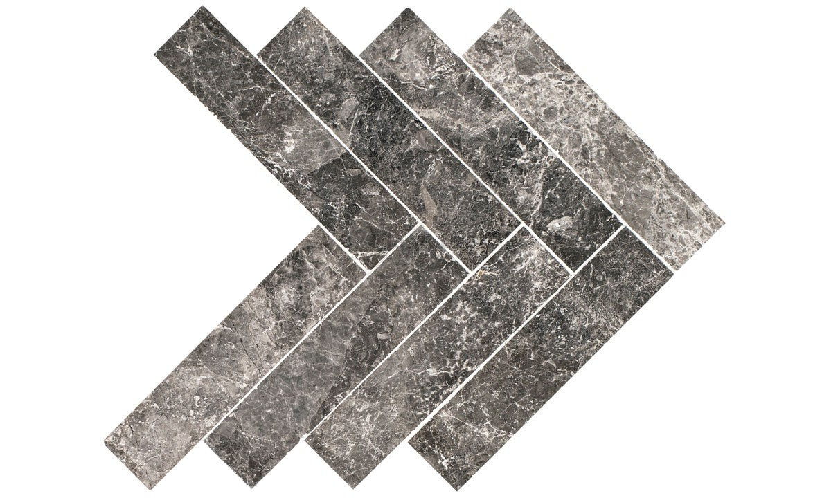 Marble Polished - Silver Moon Herringbone