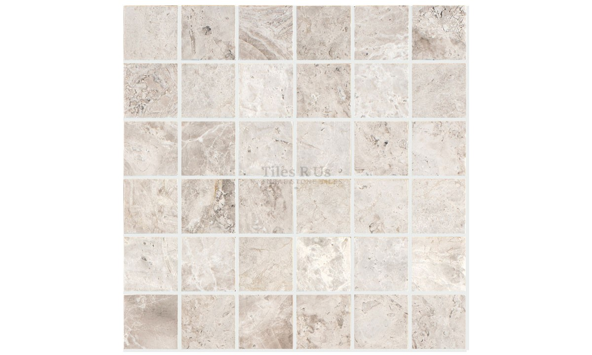 Mosaic Marble Honed - Silver Light