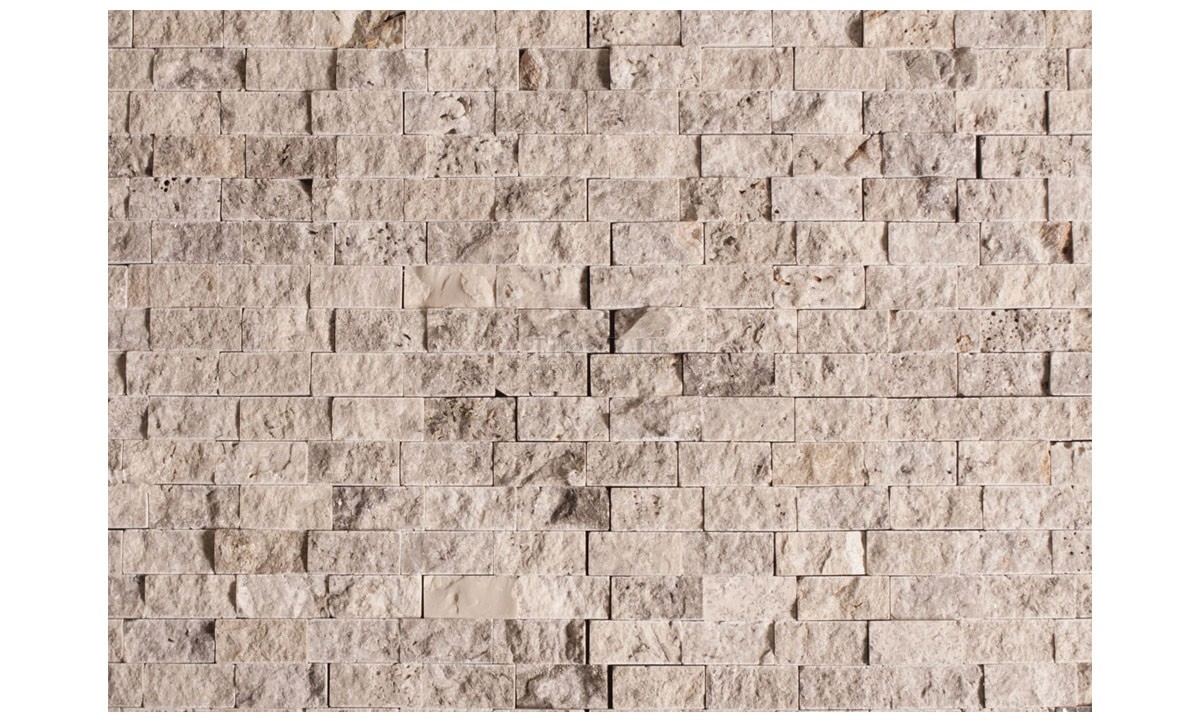 Travertine Split Face - Silver 23x48