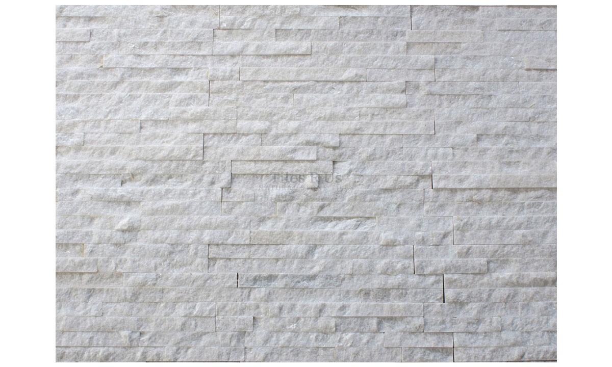 Slate Cladding - White Quartzite Riven (Send Sample)