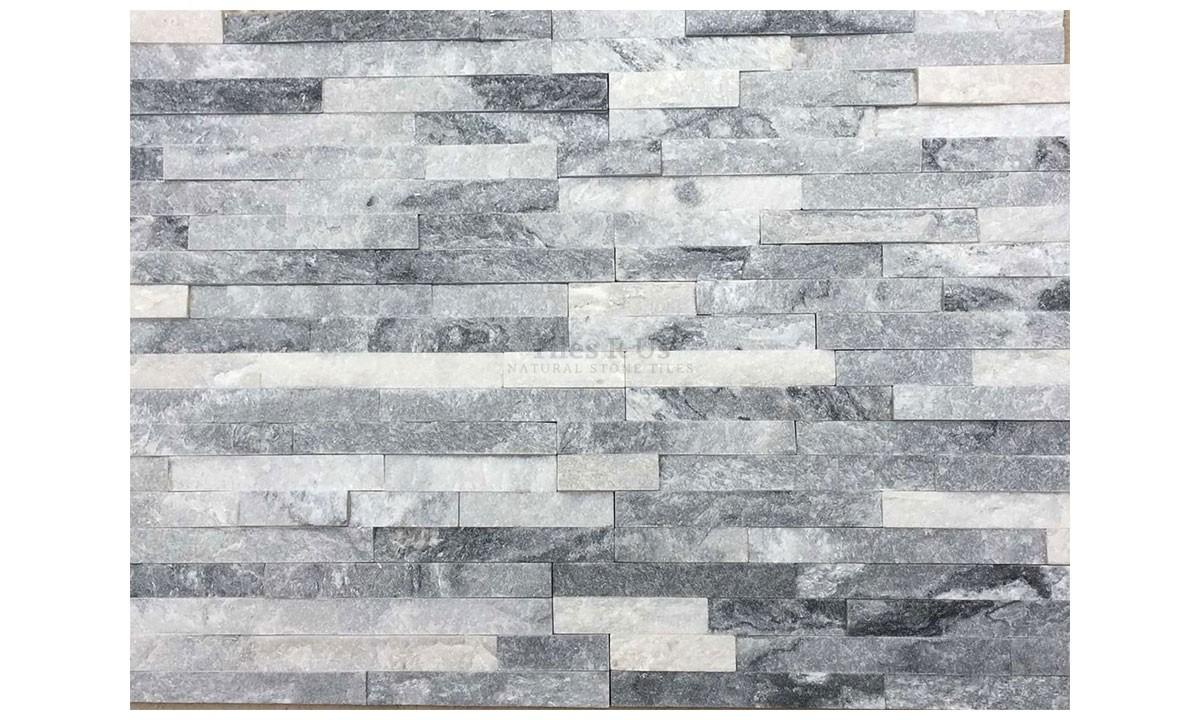Slate Cladding - Glacier Grey Riven 100x400