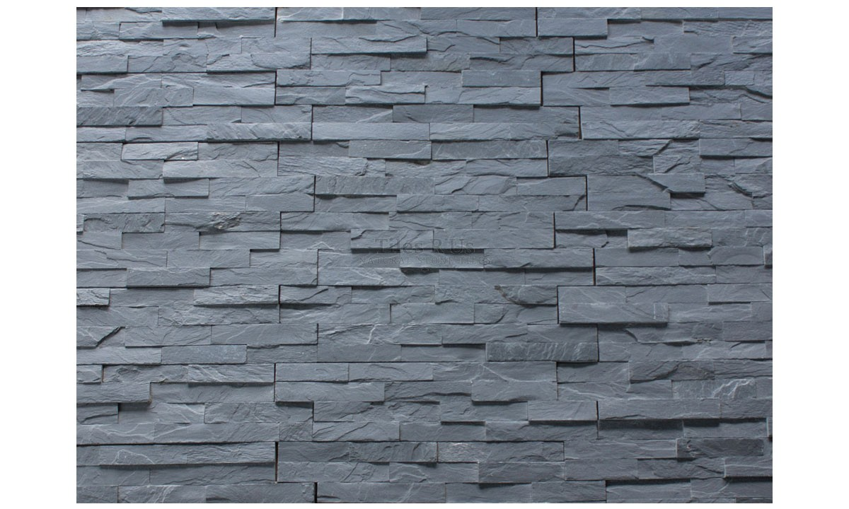 Slate Cladding - Imperial Black Riven 100x400