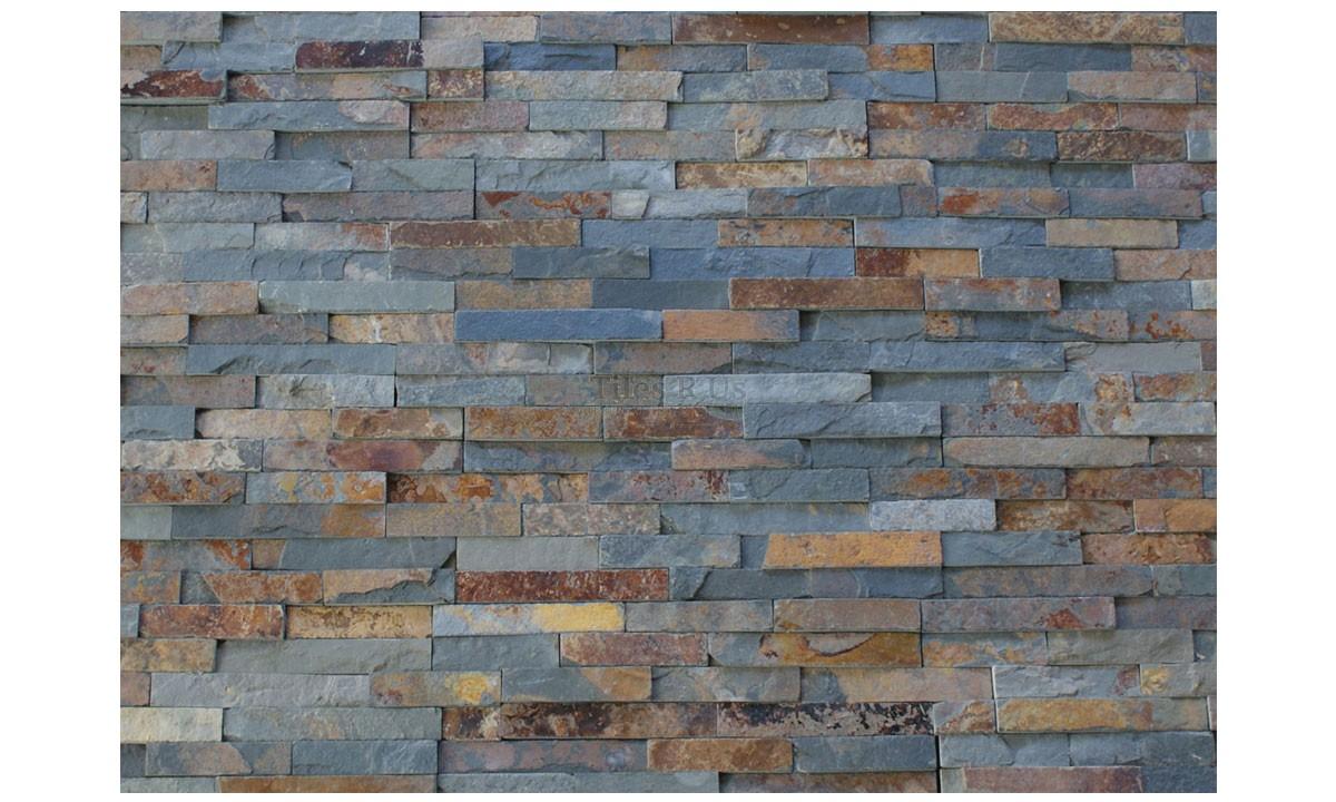 Slate Cladding - Rust Multicolour Riven 100x400