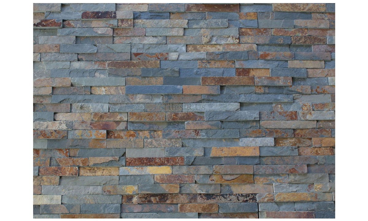 Slate Cladding - Rust Multicolour Riven