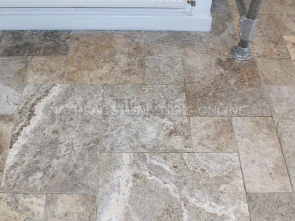 Silver Travertine Tumbled 406x610x12mm thick