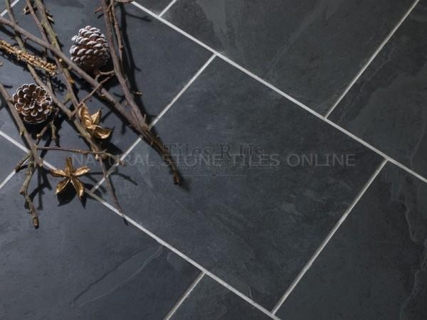 Riven Slate - Brazilian Black 400x400 (9-12mm)