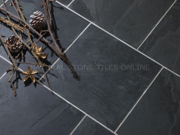 Riven Slate - Brazilian Black 300x300 (9-12mm)