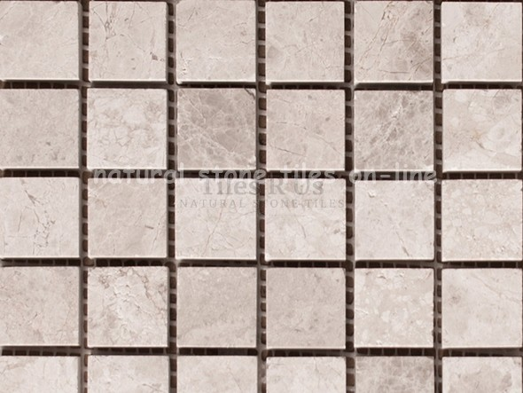 Send Sample Mosaic Marble Polished - Silver Moon