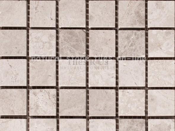 Send Sample Mosaic Marble Polished - Silver Moon