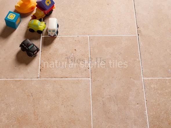 Limestone Tumbled - Desert Pearl Opus Romano Pattern