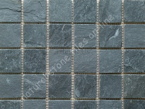 Mosaic Slate Riven Imperial Black 23x23