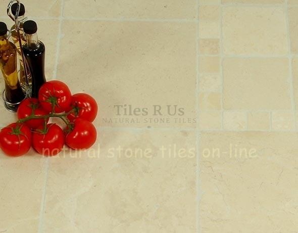 Marble Tumbled - Olympus Crème 100x100x10