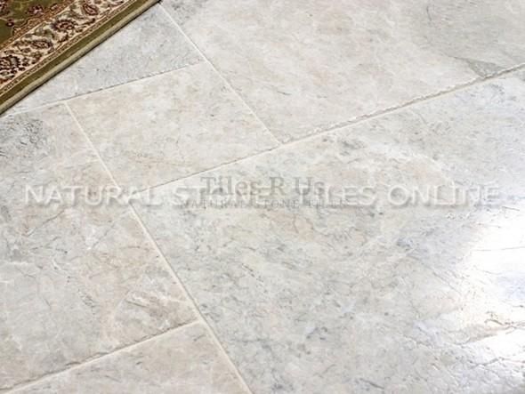 Marble Brushed & Chiselled Edge - St. Moritz 406x610x12mm