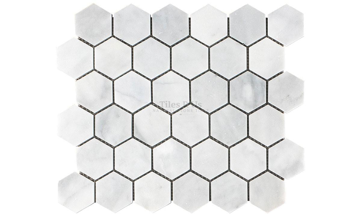 Mosaic Marble Polished - Carrara White Hexagon 265x305x10mm