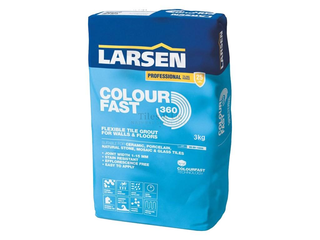 Larsen Flexible Colour Fast SILVER GREY Grout 10kg