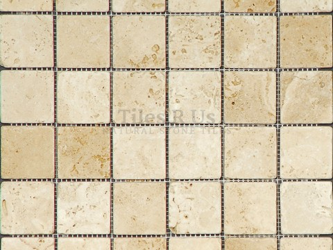 Mosaic Travertine Tumbled Lydia Classico (Squares)