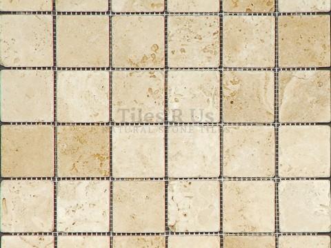 Mosaic Travertine Tumbled Lydia Classico (Squares)