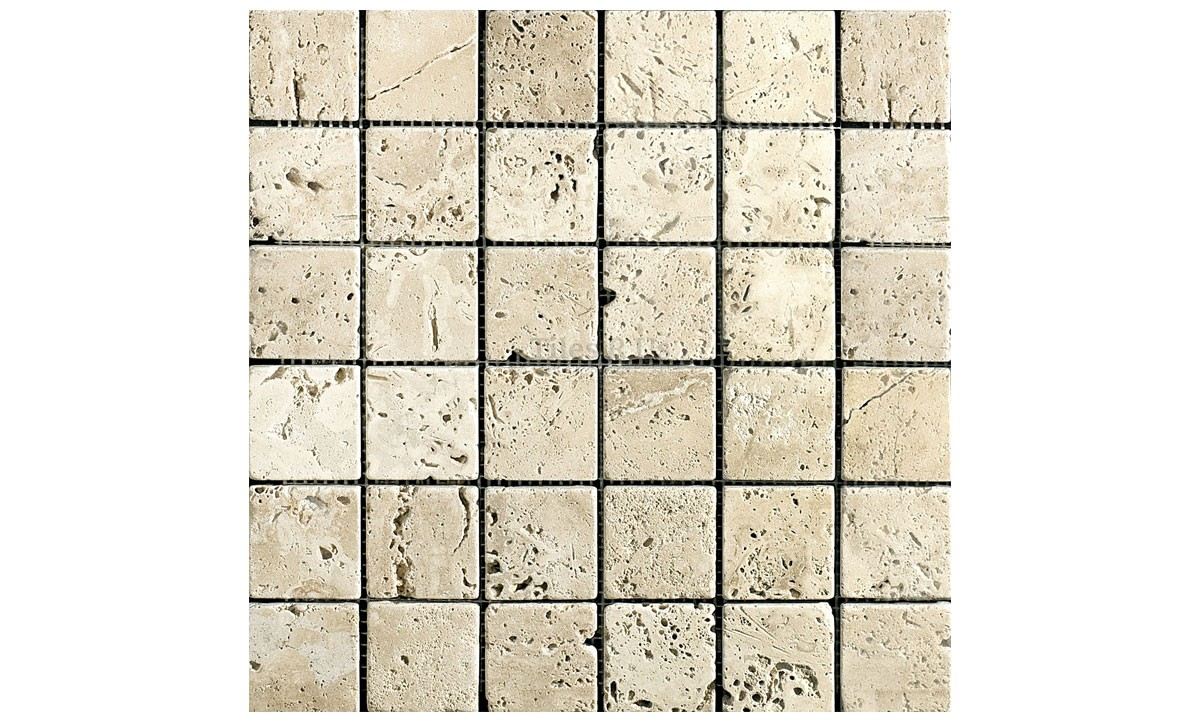 Mosaic Travertine Tumbled - Lydia Antique 48x48