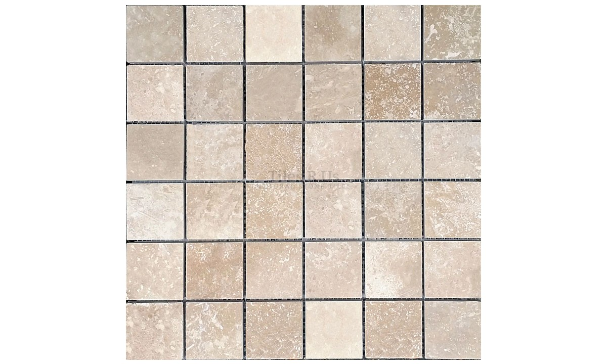 Mosaic Travertine Honed & Filled Lydia Classico 48x48