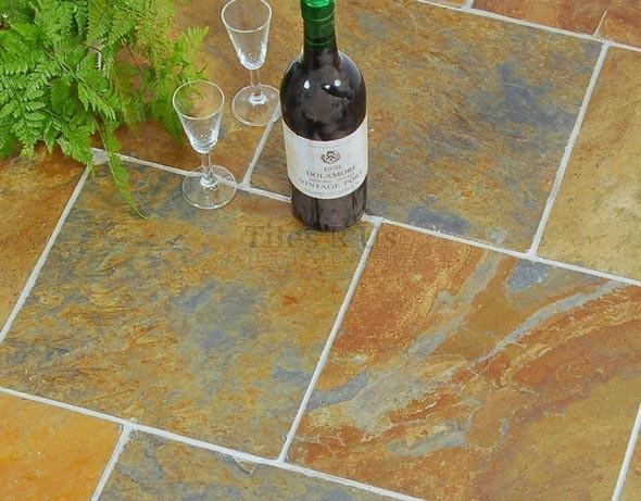 Slate Riven - Rust Multicolour 600x600 (12mm thick)