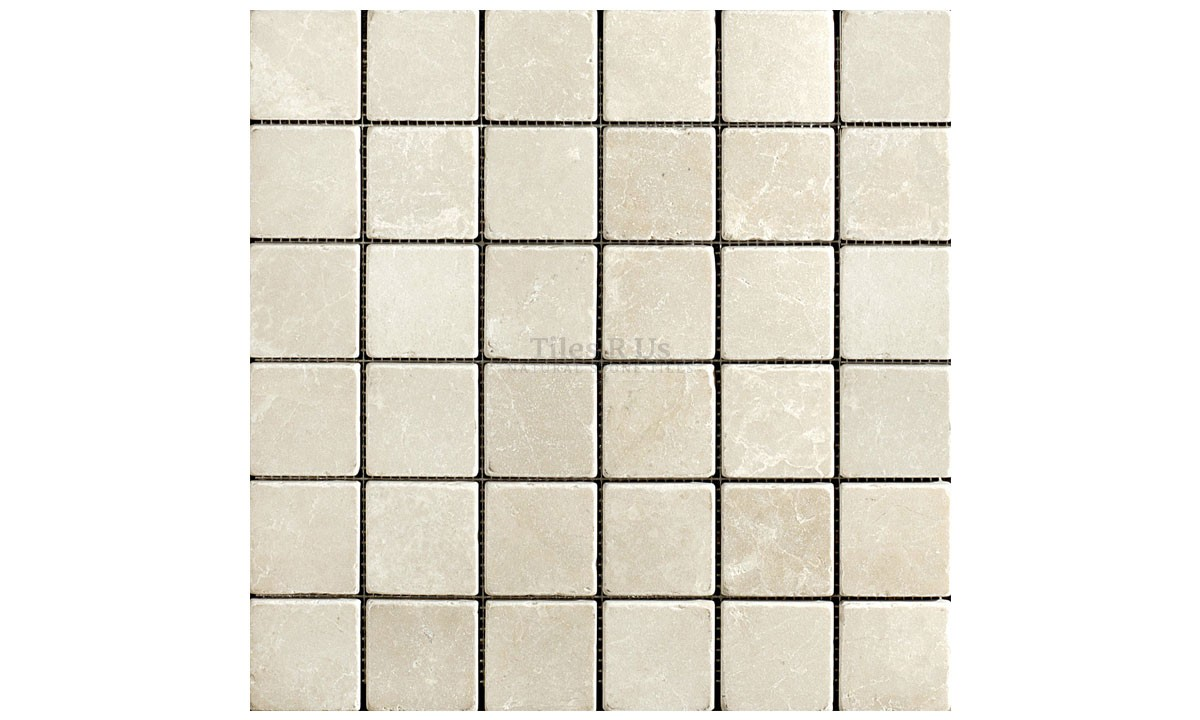 Mosaic Marble Tumbled - Olympus Crème 48x48