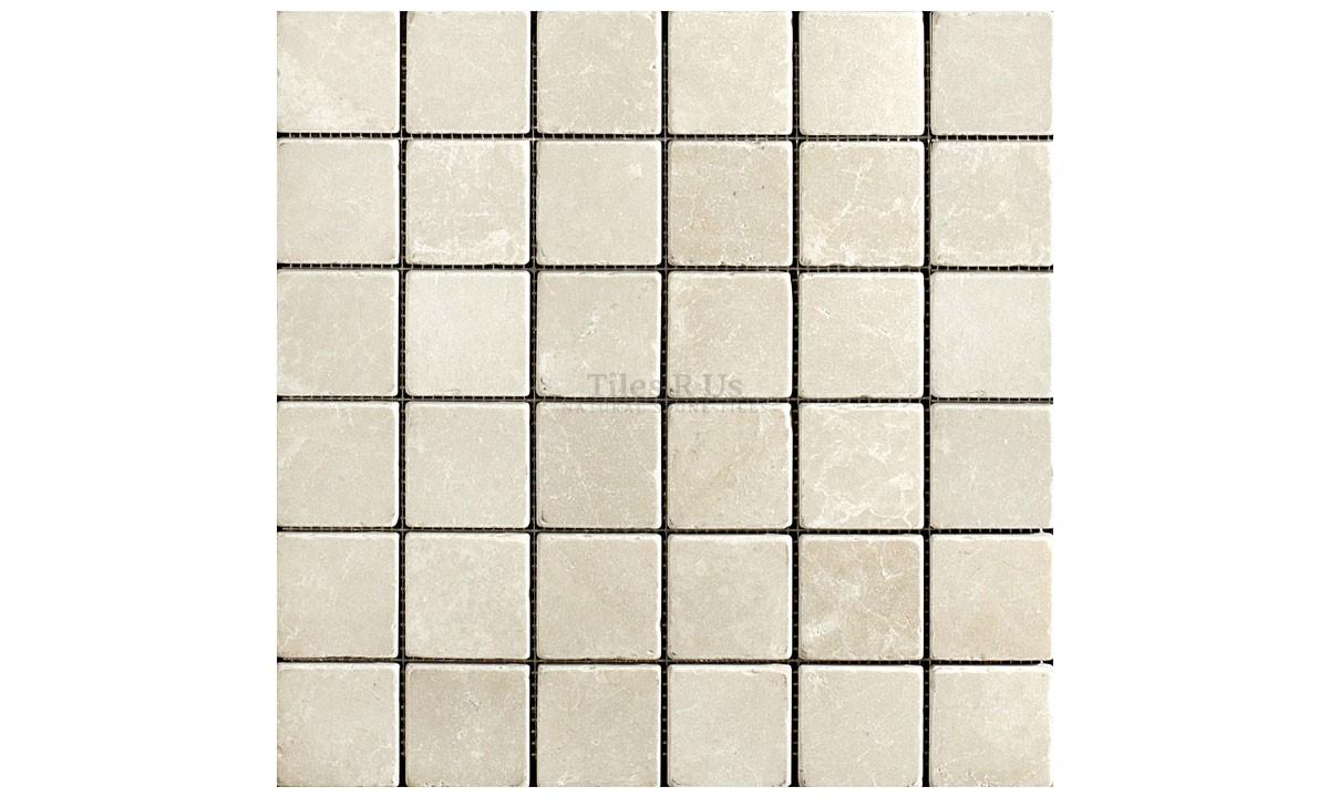 Mosaic Marble Tumbled - Olympus Crème 23x23