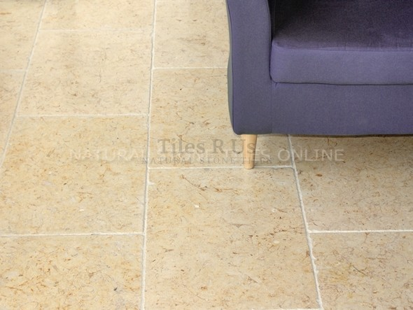 Limestone Tumbled - Salem Gold Opus Romano Pattern - 12mm thick
