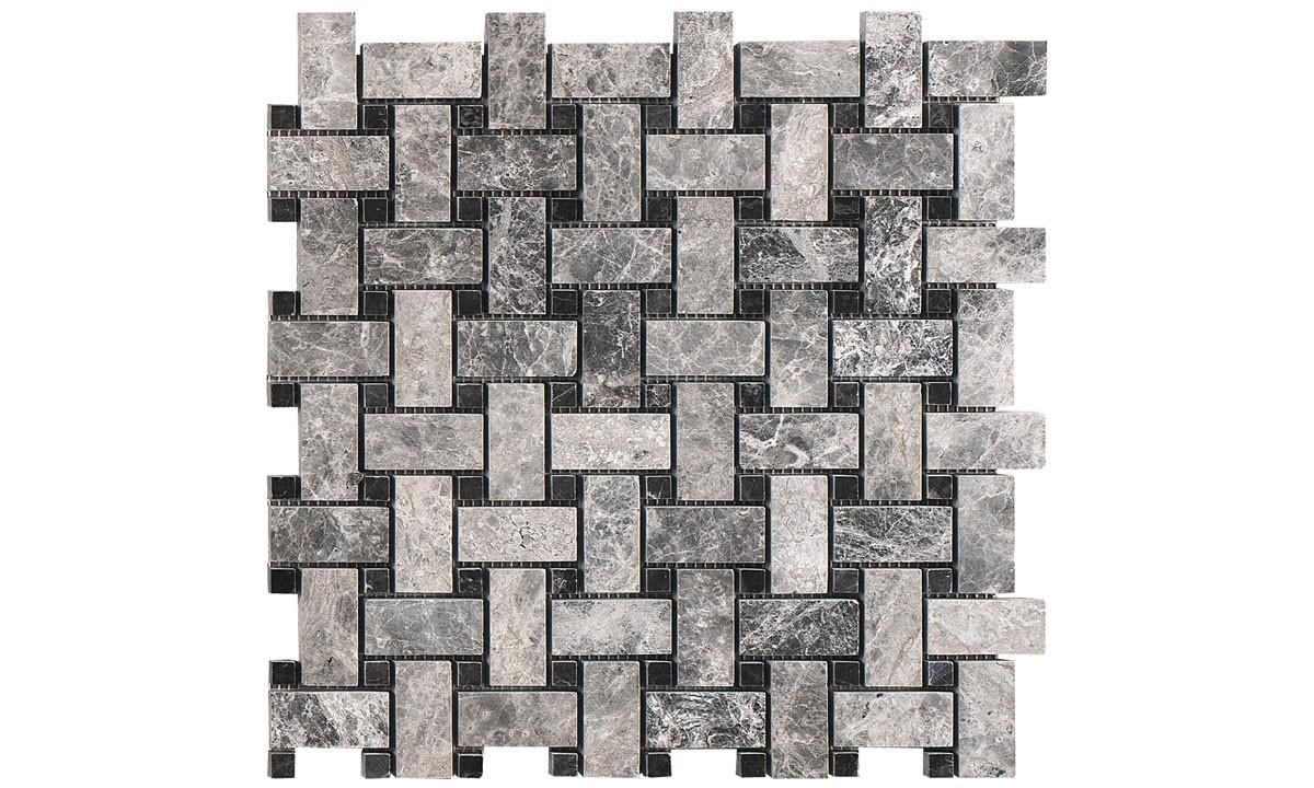 Mosaic Marble Polished - Silver Moon Basketweave