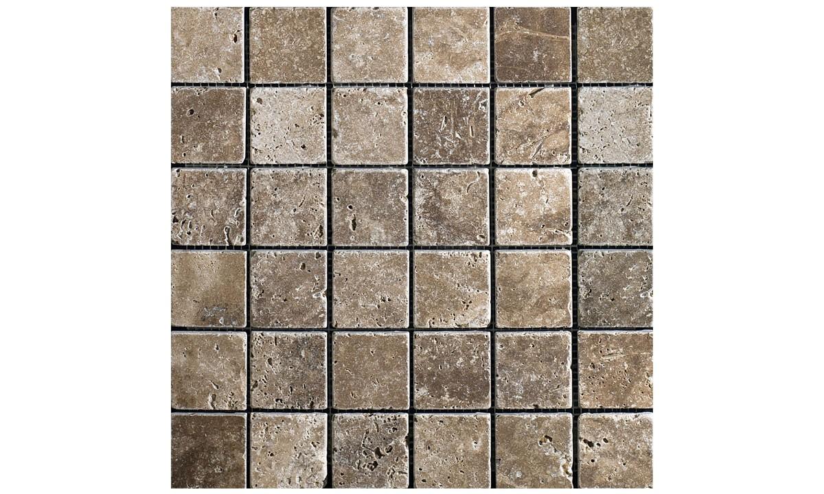 Travertine Tumbled Mosaic - Siva Noce (Send Sample)