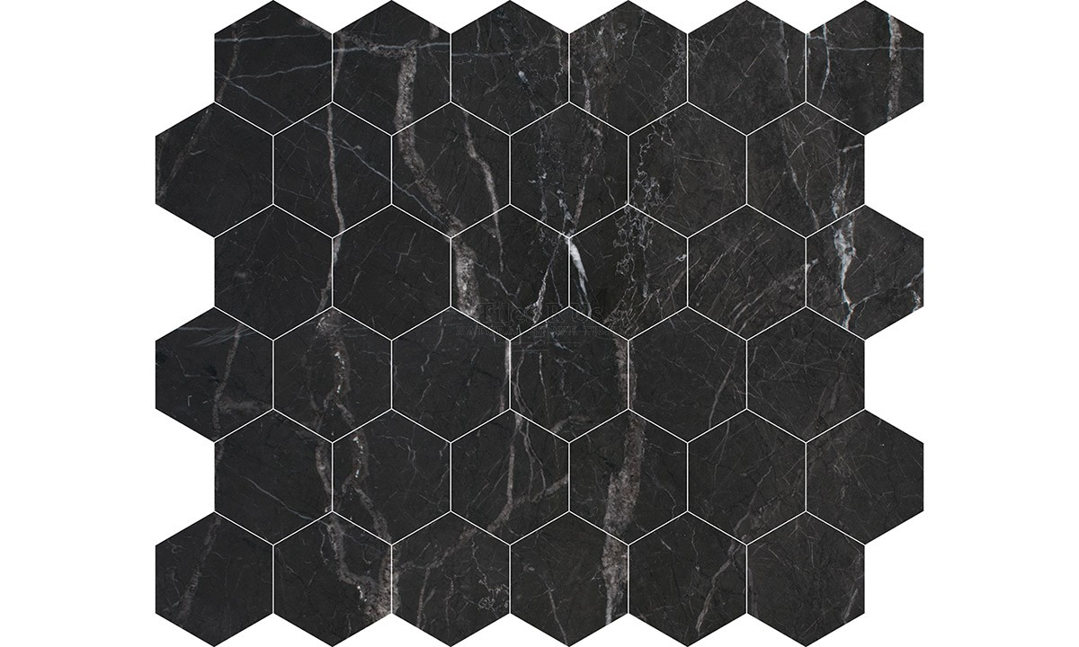 Mosaic Marble Polished - St Laurent Hexagon (Send Sample)