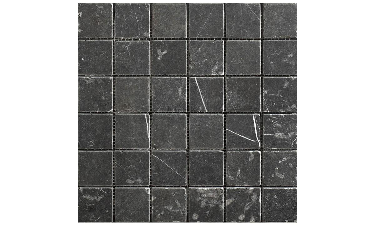 Mosaic Marble Tumbled - Taurus Nero 23x23