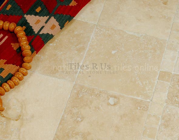 Lydia Antique Travertine - Tumbled 150x150x10