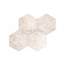 Marble Polished - Silver Light Hexagon