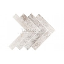 Marble Polished - Silver Light Herringbone