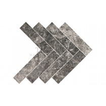 Marble Polished - Silver Moon Herringbone