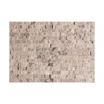 Travertine Split Face - Silver