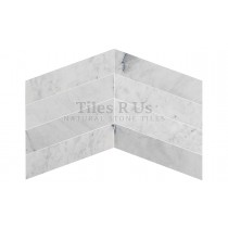 Marble Polished - Carrara White Chevron