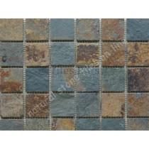 Mosaic Slate Multicolour Riven