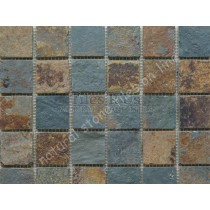 Send Sample Mosaic Slate Multi Colour Riven