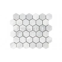Mosaic Marble Honed - Carrara White Hexagon