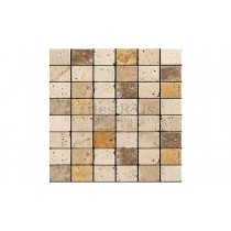 Mosaic Travertine Tumbled - Mixed Classico Giallo Noce