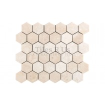 Mosaic Marble Honed - Crema Marfil Select Hexagon (Send Sample)