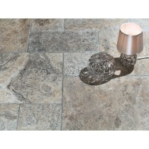 Travertine Tumbled - Silver