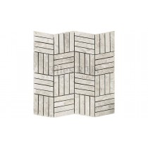 Mosaic Marble Honed - Silver Light Battersea
