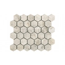 Mosaic Marble Honed - Silver Light Hexagon (Send Sample)