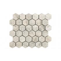 Mosaic Marble Honed - Silver Light Hexagon
