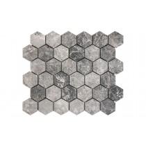 Mosaic Marble Honed - Silver Moon Hexagon